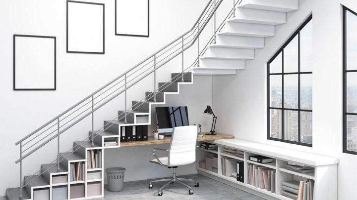 5 idées pour utiliser l'espace sous l'escalier