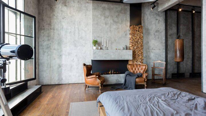 Chambre de style industriel: les couleurs conseillées pour les murs